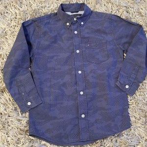 Boys Tommy Hilfiger blue shirt, size 6